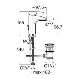 ROCA Jednouchwytowa bateria umywalkowa sztorcowa (automatyczny korek) Thesis