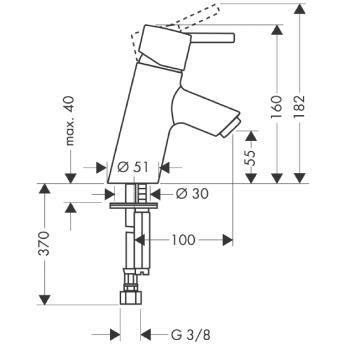 Talis S Jednouchwytowa bateria umywalkowa bez kompletu odpływowego DN15 CHROM