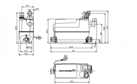 GRUNDFOS SOLOLIFT2 C-3 pompa do pralek , zmywarek , natrysku , wanny , zlewu , bidetu , umywalki