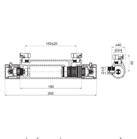 FERRO Bateria natryskowa, termostatyncza Varese