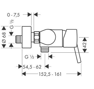 Talis S Jednouchwytowa bateria prysznicowa DN15, montaż natynkowy chrom