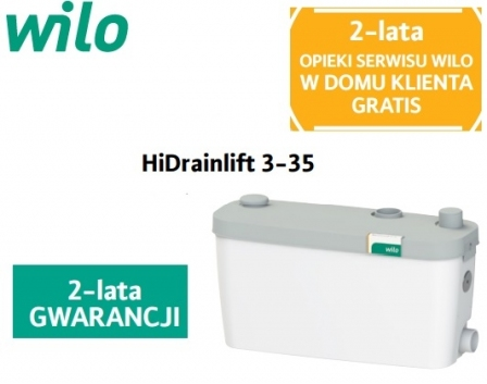 WILO HiDrainlift 3-35 pompa do zmywalki , pralki do 60^C