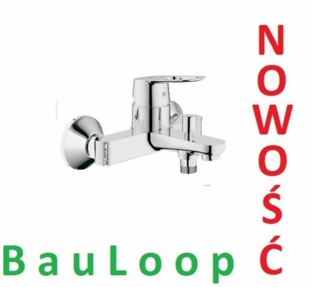 GROHE BauLoop jednouchwytowa bateria wannowa 23341 000  CHROM NOWOŚĆ