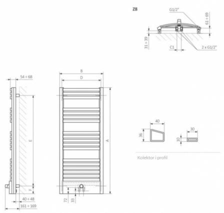 TERMA TECHNOLOGIE DEXTER PRO 860 X 400 SILVER MAT