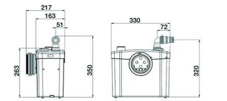 Pompa rozdrabniająca SFA Sanitop Silence WC + 1