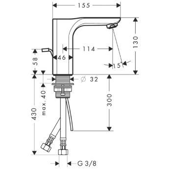 Axor Urquiola Jednouchwytowa bateria umywalkowa do małych umywalek CHROM