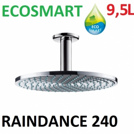Głowica deszczowa Raindance Air Ø 240 mm DN15 chrom sufirowa- PROMOCJA!!!
