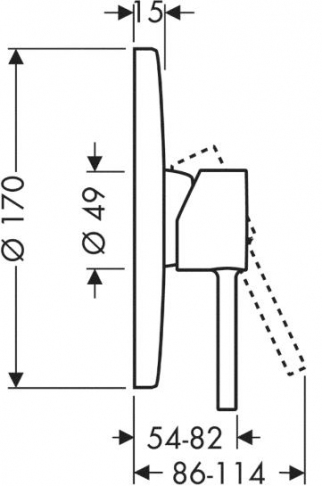 Axor Starck Jednouchwytowa bateria prysznicowa podtynkowa, element zewnętrzny chrom