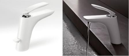 KLUDI BALANCE bateria umywalkowa stojąca BIAŁY/CHROM