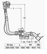 VIEGA SYFON WANNOWY Jednostka funkcyjna Multiplex Trio komplet odpływowo-przelewowy