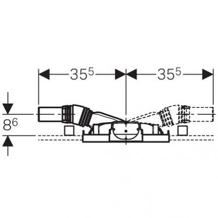 GEBERIT Element montażowy Geberit Duofix do natrysków z odpływem ściennym, h90, H50
