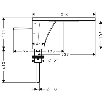 Axor Massaud Jednouchwytowa bateria umywalkowa do misek umywalkowych DN15 CHROM