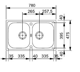 FRANKE zlew stalowy EFL 620-78 len
